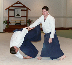 Photo: Throw practice in Aikido
